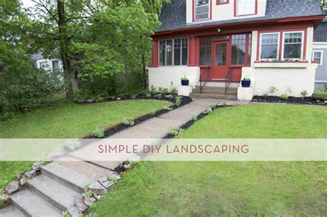 adding curb appeal  simple diy landscaping curbly
