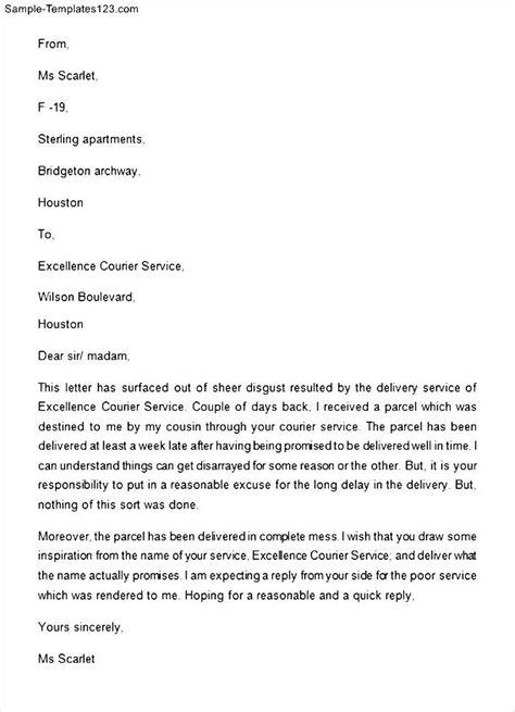 sample complaint letter  bad service   sample
