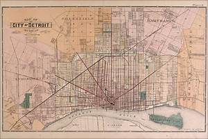 Amazon Com  24x36 Poster  Map Of Detroit 1891  Antique