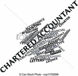 Stock Illustration of Chartered Accountant - Abstract word ...
