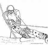 Coloring Pages Skiing Printable Sports Ski Racer Sheet Others Sheets Selection Print Race Found sketch template