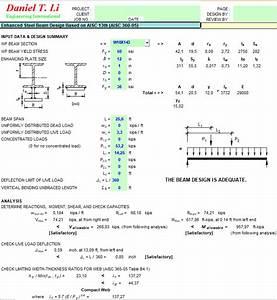 Aisc Steel Design Spreadsheets