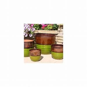 Pot En Terre Cuite émaillée : pot en terre cuite maill e sequoia bois et nature ~ Dailycaller-alerts.com Idées de Décoration
