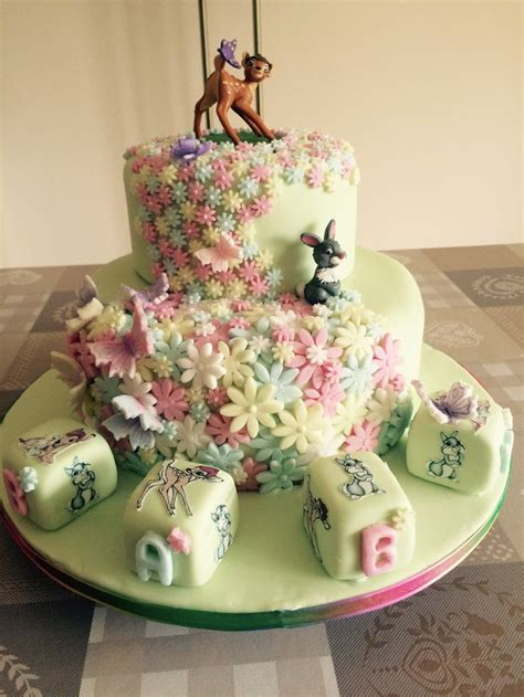 bambi  thumper baby shower cake  sweet treats