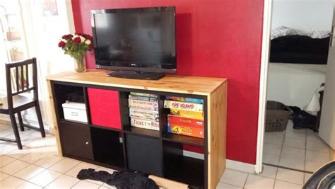 meuble cuisine en chene un meuble télé avec kallax bidouilles ikea