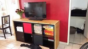 un meuble tele avec kallax With meuble kallax