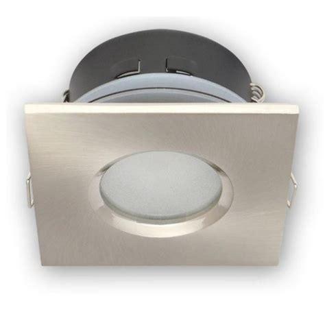 ip65 salle de bain spot encastrable ip65 carr 233 acier bross 233 pour led ou halog 232 ne