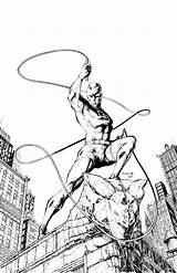 Daredevil Drawing Marvel Comics Drawings Murdoch Matt Getdrawings Comic sketch template