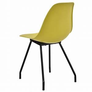Stühle Retro Design : 2x retro design st hle esszimmer senffarben stuhl plastik kunststoff ebay ~ Indierocktalk.com Haus und Dekorationen