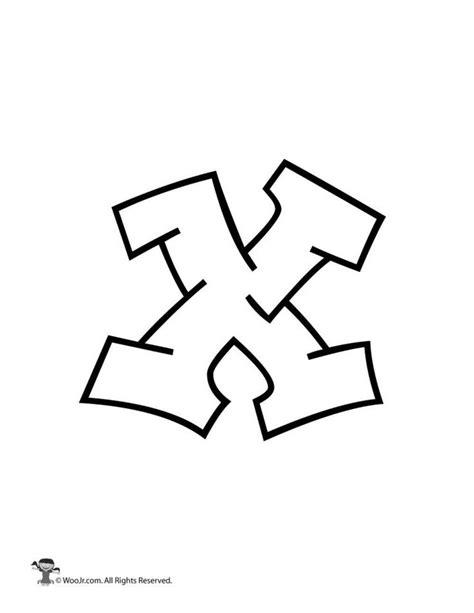 Graffiti Lowercase Letter x | Lettering alphabet, Bubble