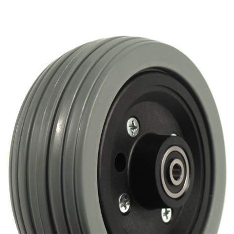 Jazzy Power Chair Tires by Pride 6 Quot Gray Flat Free Caster Wheel Assembly For Jazzy