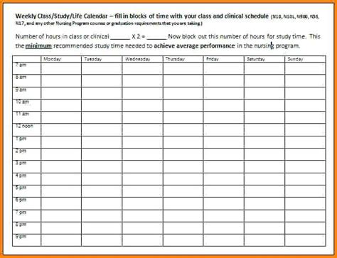 Study Template Time Study Template Excel Free Chlain