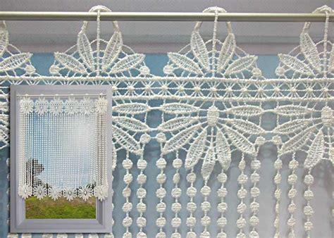 brise bise macram 233 233 cru motif fleurs et perles rideau macram 233 pas cher