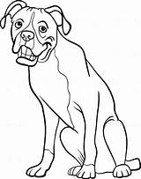 Boxer Coloring Dog Pages Cartoon Line Dogs Drawing Guard Colouring Terrier Boston Cowardly Clipart Happy Sketch Printable Getdrawings Template Courage sketch template