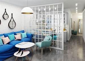 Trennwand Mit Glas : offene k che vom wohnzimmer abtrennen trennw nde im ~ Michelbontemps.com Haus und Dekorationen