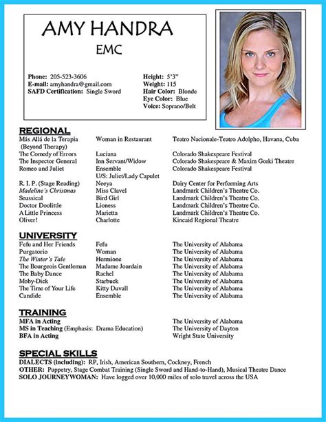 acting resume template backstage acting resume template is useful for you who are now seeking a in acting the acting