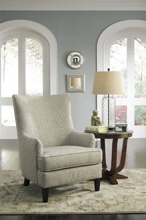 transtional accent chair  wing   signature