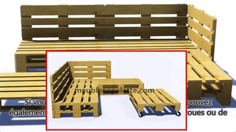 plan canapé en palette comment construire un canapé de palette pour le jardin