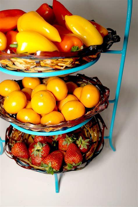 tiered fruit bowl diy dumpster diving darling