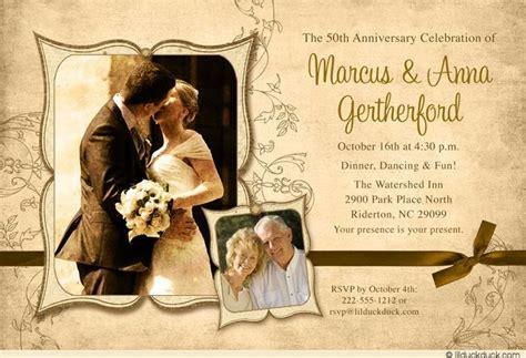 Heirloom Photo 50th Anniversary Card Unique Wedding