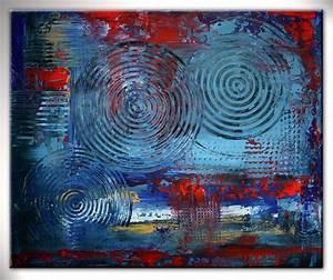 Bilder Acryl Abstrakt : burgstaller bild malerei acrylbild g nstig abstrakte kunst blau rot expression http www ~ Whattoseeinmadrid.com Haus und Dekorationen