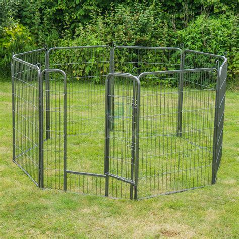 8 panel heavy duty pet playpen cage for rabbit metal run fence enclosure ebay