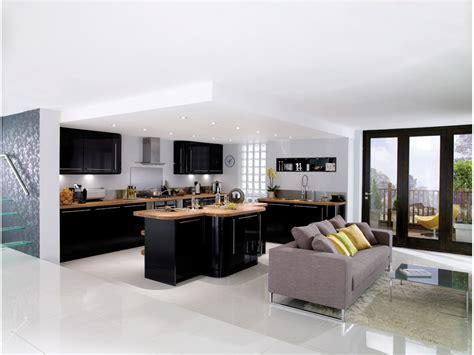 cuisine et cuisine design noir et bois