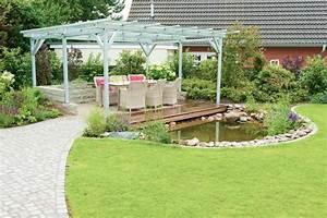 Terrasse Höher Als Garten : gartenerweiterung mit einer berdachte terrasse am teich ~ Markanthonyermac.com Haus und Dekorationen