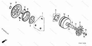 Honda Scooter 2004 Oem Parts Diagram For Drive Face