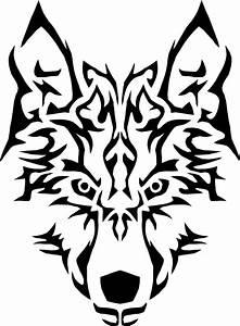 Clipart - Tribal Wolf Symmetric