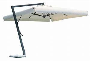 sonnenschirm ampelschirm rechteckig fur balkon With französischer balkon mit gastro sonnenschirme 4x4