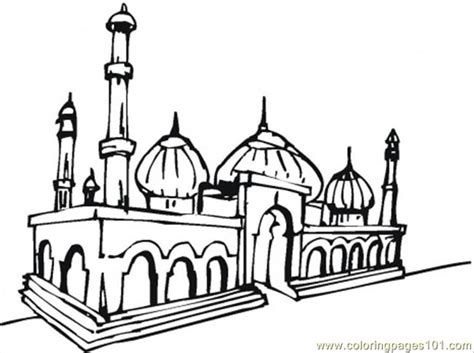 beautiful mosque coloring page  buildings coloring