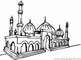 Mosque Masjid Coloring Gambar Mewarnai Drawing Pages Buildings Coloringpages101 Clipart Mosques Clip Getdrawings Find Cours Enfants Pour Clipartbest Cliparts Album sketch template