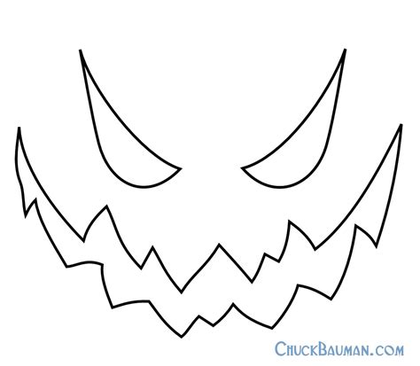 Scary O Lantern Template by Free Printable Skellington Pumpkin Carving Stencil
