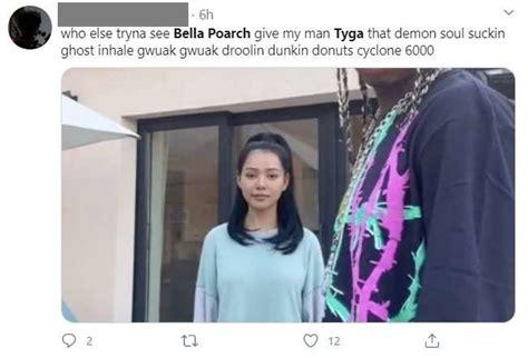 poarch tyga bella sextape leaks tiktok star alleged graphic wig donald trump loses