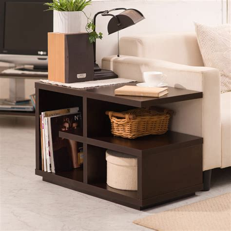 Lighted End Tables Living Room Furniture by Furniture Modern Walnut Quot End Table Quot Living Room Accent