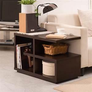 Furniture, Modern, Walnut, U0026quot, End, Table, U0026quot, Living, Room, Accent, Lounge, Home, Storage, Den