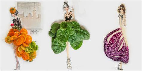 jadinya  sayur  buah jadi inspirasi fashion