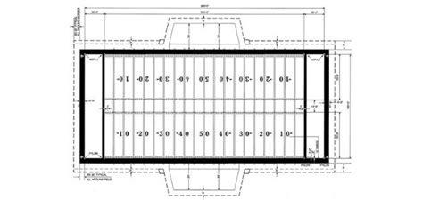 football field  designed  hash marks