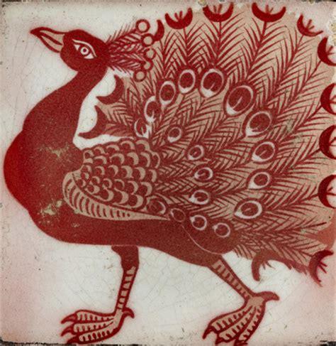tile  peacock  william frend de morgan