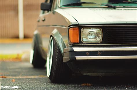 volkswagen rabbit stance far from perfect stancenation form gt function