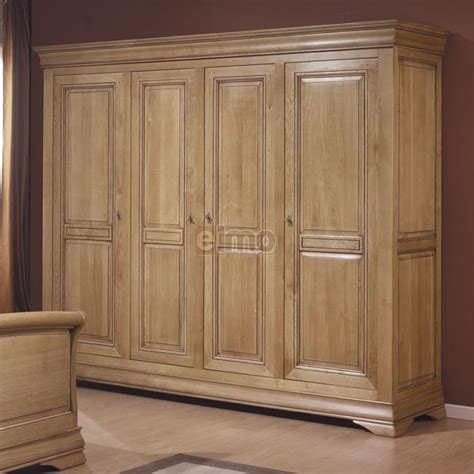 Armoire De Chambre 2 à 4 Portes Chêne Massif Style Louis