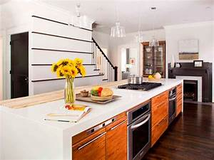 Contemporary Kitchen Island With Cooktop Oven Bar