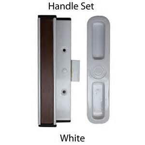sliding glass patio door handle set white for