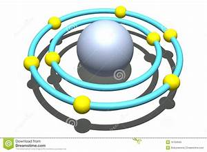 Oxygen Atom On White Background Stock Illustration ...