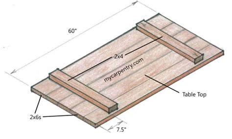 woodworking table top attachment details garan wood desk