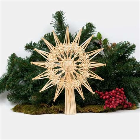 fancy straw christmas tree star for smaller trees