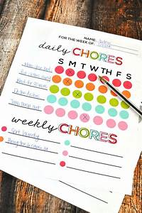 Free Printable Chore Charts For 9 Year Olds 21 Diy Chore Charts That Actually Work