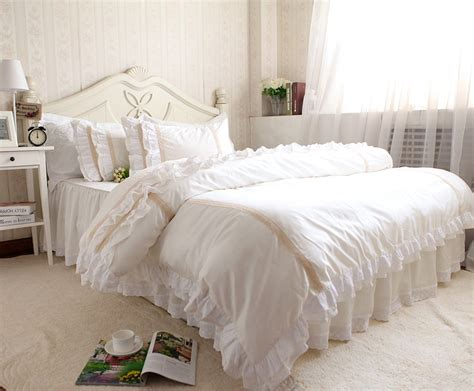 solid color white bedding set new arrival 4pc comforter