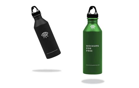 Easy to edit and customize. Metallic Water Bottle Mockup - Mockups For Free in 2020 ...